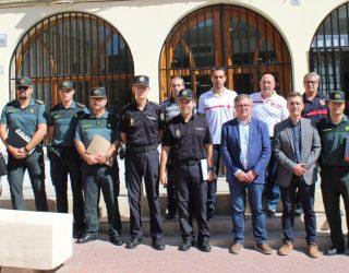 Francisco Tierraseca preside junto al alcalde, Ramón García, la Junta Local de Seguridad