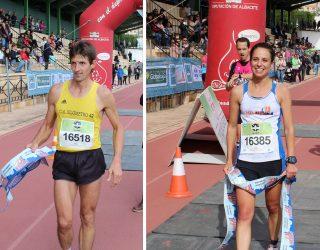 """Andrés Micó y Sara Castillo, vencedores de la XXXI edición de la Media Maraton Ciudad de Hellín """"Honorio Soria Cifo"""""""