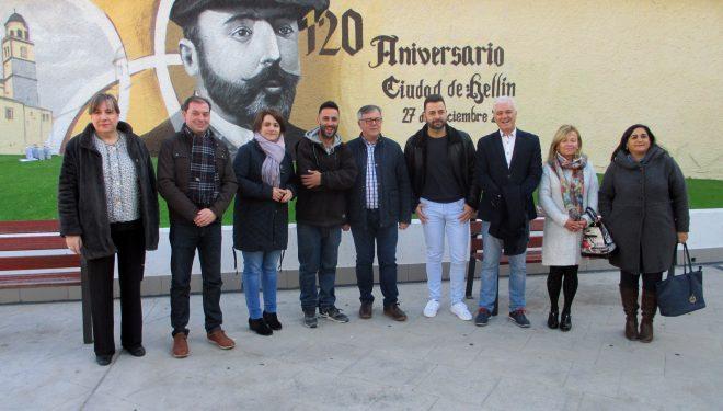 Inaugurado un mural para conmemorar el 120 aniversario de la declaración de Hellín como ciudad
