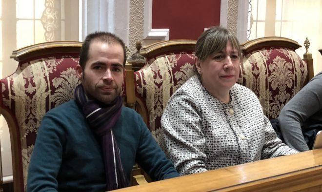 Mario Mora y María Jesús López  de Ciudadanos / EFDH.