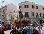 Con un tiempo esplendido, se llevó a cabo la primera procesión de la Semana Santa de 2019