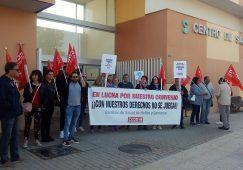 Cuarto día de Huelga de las trabajadoras de la limpieza de los centros de salud