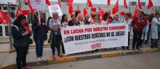 Sexto y último día de la huelga de la limpieza de los centros de salud de Hellín
