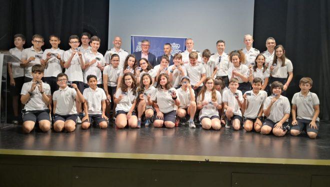 173 alumnos de 6º curso de Primaria recibieron el carnet de Ciberexpertos