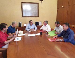 Entrevista en Murcia del alcalde de Hellín con el presidente de la Confederación Hidrográfica del Segura