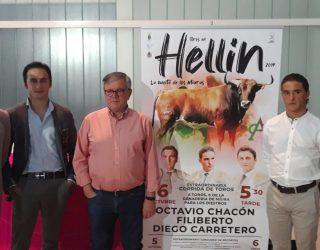 Octavio Chacón, Filiberto y Diego Carretero, cartel del festejo taurino de la próxima Feria
