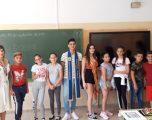 """Visita de los Hellineros de Honor, Blanca Banegas y José A. Yuste, al Colegio """"Entre Culturas"""""""