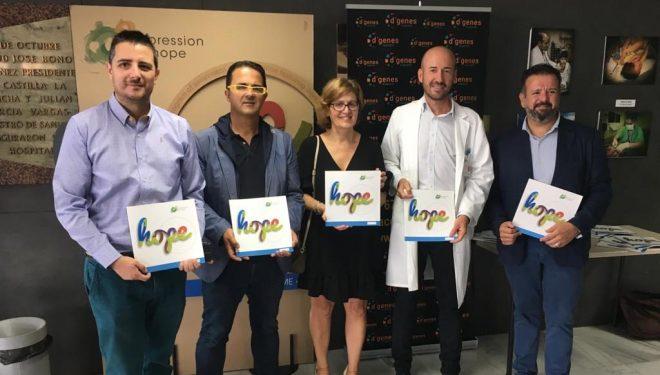 """El Hospital de Hellín acoge la exposición """"Expression of Hope"""" sobre enfermedades raras, con obras realizadas por los propios pacientes"""