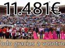 Éxito en el festival taurino organizado a beneficio de Julia al que acudieron más de 2.000 personas