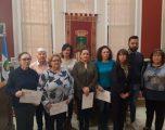 Entrega de diplomas del curso de formación de cuidadores para personas dependientes APOYANDO-T