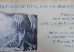 """Presentación del Tríptico restaurado del """"ECCE HOMO"""""""