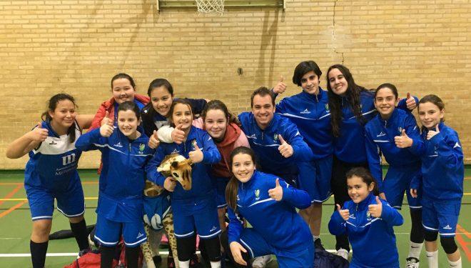 Disputado triunfo del equipo Alevín femenino del ADB Hellín en la Roda
