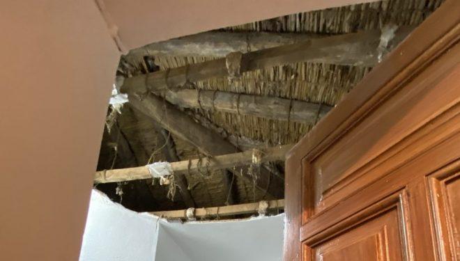 Se hunde la cubierta central de la Ermita del Calvario
