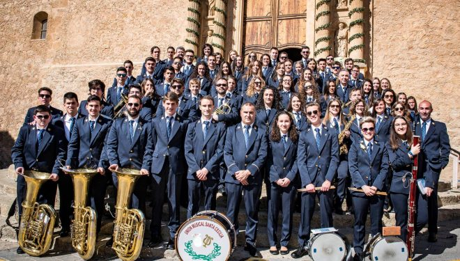 """La Unión Musical Santa Cecilia de Hellín galardonada con el XV premio """"Hermandad de Ntra. Sra. de la Soledad"""""""