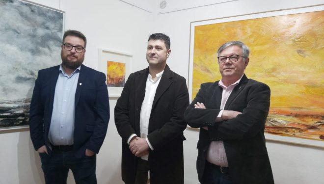 Inaugurada la exposición de pintura de Pablo Nieto