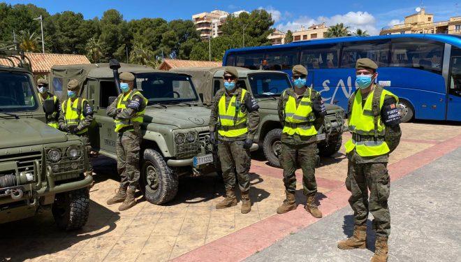 Miembros de las Fuerzas Armadas se desplazan de nuevo a Hellín