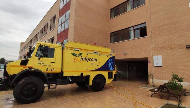El GEACAM realiza hoy labores de limpieza en residencias de Campos de Hellín y la Sierra del Segura