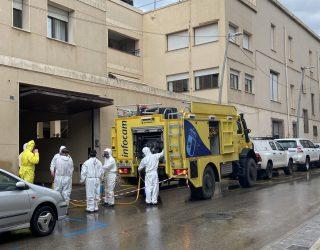 El Dispositivo de GEACAM ha desinfectado y realizado limpieza en tres residencias de Hellín
