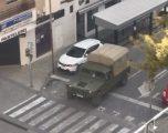 Soldados de la Brigada de Paracaidistas de Murcia realizan tareas de limpieza y desinfección en las residencias de Hellín