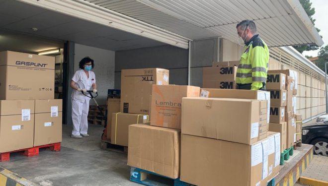 Las GAI de Albacete, Hellín, Almansa y Villarrobledo reciben 25.600 test rápidos y 79.000 artículos de protección