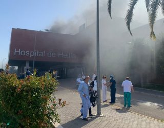 Extinguido el incendio del Hospital de Hellín