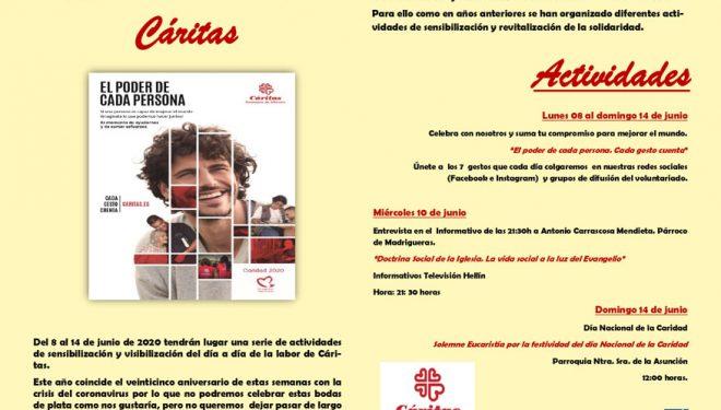 Actos organizados  durante la XXV Semana de Cáritas Interparroquial