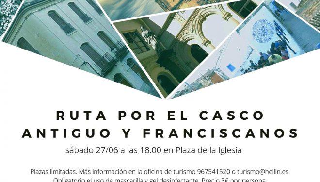 """Hellín estrena el sello """"Turismo Responsable"""" con rutas al Casco Antiguo y el Convento de los Franciscanos"""