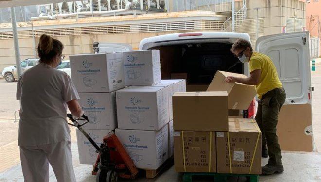 Nuevo envío de material para las Gerencias de Atención Integrada de Albacete, Hellín, Almansa y Villarrobledo