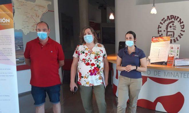 Juan A. Andújar, María Jesús López e Isabel Ortega /EF.