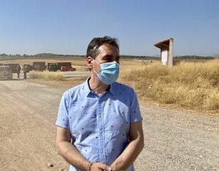 El delegado del Gobierno en Castilla-La Mancha ha presenciado el trabajo realizado para luchar contra el incendio de Férez