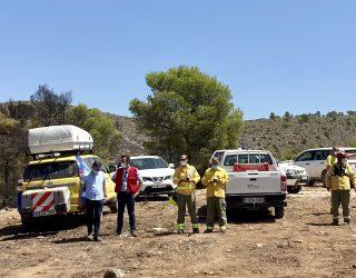 El director general de Medio natural y Biodiversidad visita  el incendio de Férez