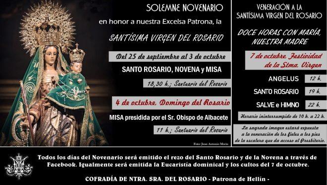 Actividades en honor de la patrona de Hellín, la Virgen del Rosario