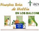 """La AECC en la localidad de Hellín se suma a la campaña de """"Nuestra Feria EN LOS BALCONES"""""""