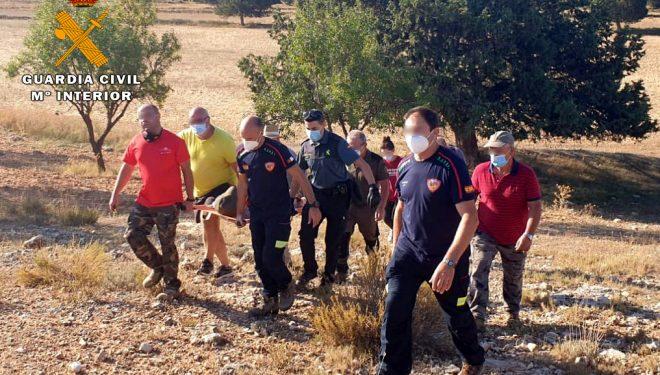 Rescate de una persona que estuvo desaparecida 16 horas por el término municipal de Letur