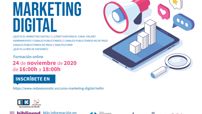 La Red de Bibliotecas de Hellín oferta un taller gratuito de marketing digital