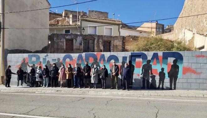 Presentado el mural realizado con motivo de la conmemoración del Día Mundial de las Discapacidades