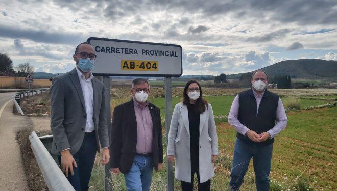Visita del vicepresidente de la Diputación a las carreteras comarcales del municipio