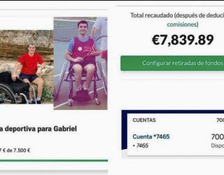 Gabriel Teruel consigue su anhelo de tener una silla para poder practicar deporte