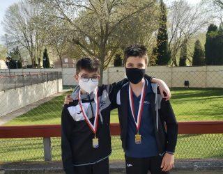 Los nadadores hellineros, Jesús Huerta y Pablo Marín consiguen varias medallas