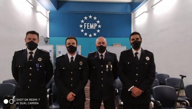 Cuatro Policías Locales premiados a nivel nacional por su actuación en el incendio del Hospital Hellín