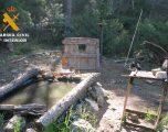 La Guardia Civil sorprende a una persona fotografiando especies de fauna protegidas desde un escondite en el medio natural