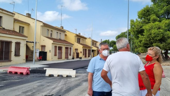 Última fase de la remodelación de la carreta de Liétor y la plaza Sabino Cuerda