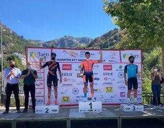 El ciclista hellinero Alberto López, vencedor de la prueba Open de Cazorla