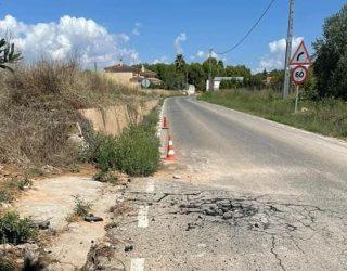 El GM del PP de Hellín pide el desbloqueo y el arreglo inmediato del colector y la carretera de Las Hazas